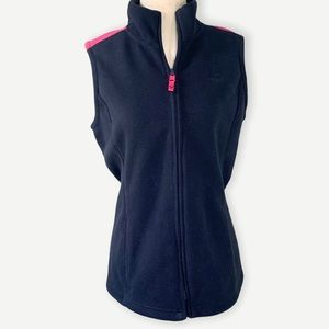 Brooks Brothers Sz M Sleeveless Navy Fleece Vest